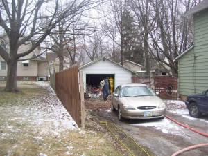 Wadsworth firefighters battles garage blaze
