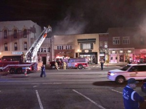 Fire rips through The Sub Station in Wadsworth historic district