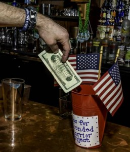 Charity bartending event at Spunkmeyers Pub raises funds for Wounded Warrior Project