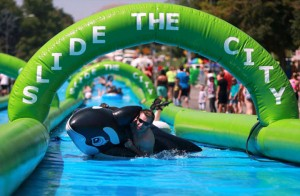 Slide the City: Giant 1,000 foot water slide set to splash Akron this summer