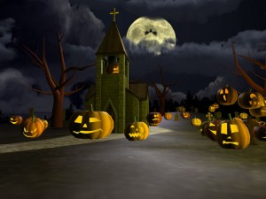 scary-halloween-pumpkins-full-moon