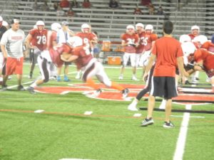 Wadsworth football team practices at midnight