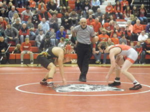 Wadsworth with a Come From Behind win on the Wrestling Mat