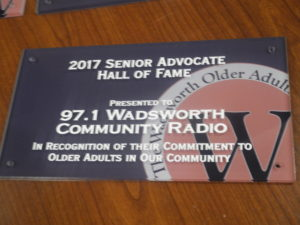 HOF calls Wadsworth Community Radio
