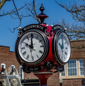 The Verdin Clock:  The New Focus of Downtown Wadsworth