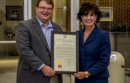 Wadsworth Mayor Robin Laubaugh presented with