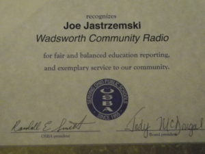 Wadsworth Community Radio Honored by School Board