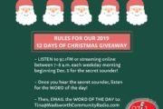 RULES: 12 Days of Christmas Giveaway